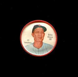1962 BILLY KLAUS SHIRRIFF COINS #10 SENATORS *2255