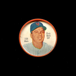 1962 GUS BELL SHIRRIFF COINS #158 METS *6590