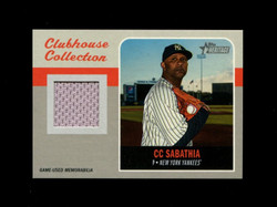 2019 CC SABATHIA TOPPS HERITAGE HIGH CLUBHOUSE COLLECTION *6814