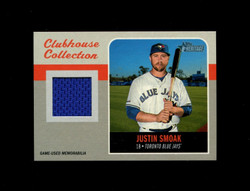 2019 JUSTIN SMOAK TOPPS HERITAGE HIGH CLUBHOUSE COLLECTION JERSEY *6992