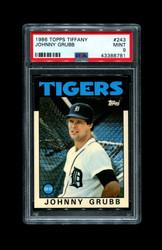 1986 JOHNNY GRUBB TOPPS TIFFANY #243 TIGERS PSA 9