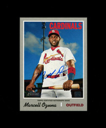 2019 MARCELL OZUNA TOPPS HERITAGE HIGH REAL ONE AUTO *8917