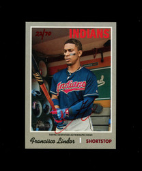 2019 FRANCISCO LINDOR TOPPS HERITAGE HIGH REAL ONE AUTO #/70 RED *R1031