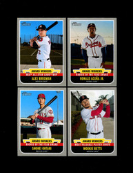 2019 TOPPS HERITAGE HIGH NUMBER AWARD WINNERS COMPLETE 10 CARD SET