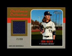 2019 JOSH HADER TOPPS HERITAGE #/99 GOLD CLUBHOUSE COLLECTION *4241