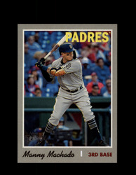 2019 MANNY MACHADO TOPPS HERITAGE #520 ACTION PADRES *2629