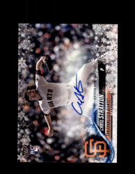 2018 CHRIS STRATTON TOPPS HOLIDAY #/200 AUTO GIANTS *3868