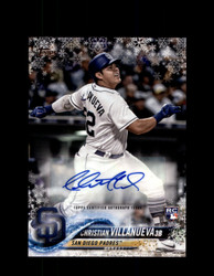 2018 CHRISTIAN VILLANUEVA TOPPS HOLIDAY #/200 PADRES *6794