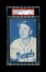 1953 WALTER ALSTON CANDIAN EXHIBITS #61 BLUE TINT PSA 6