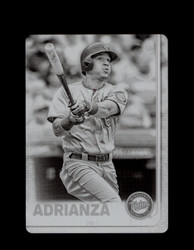 2019 EHIRE ADRIANZA TOPPS #608 BLACK PRINTING PLATE 1/1 *6853