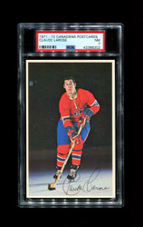 1971 CLAUDE LAROSE MONTREAL CANADIENS POSTCARDS PSA 7