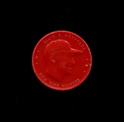 1955 ALLIE REYNOLDS ARMOUR COINS RED YANKEES *5934