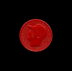 1955 WARREN SPAHN ARMOUR COINS RED WITH COMMA BRAVES *6237