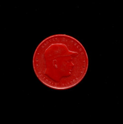 1955 HARVEY KUENN ARMOUR COINS RED WIDE LETTERS BATS/THROW *1194