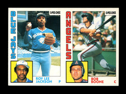 1984 ROY LEE JACKSON BOB BOONE O-PEE-CHEE 2 CARD UNCUT PANEL