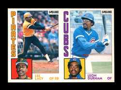 1984 LEE LACY LEON DURHAM O-PEE-CHEE 2 CARD UNCUT PANEL