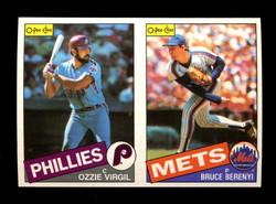 1985 OZZIE VIRGIL BRUCE BERENYI O-PEE-CHEE 2 CARD UNCUT PANEL