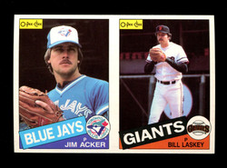 1985 JIM ACKER BILL LASKEY O-PEE-CHEE 2 CARD UNCUT PANEL