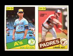 1985 DON SUTTON LAMARR HOYT O-PEE-CHEE 2 CARD UNCUT PANEL