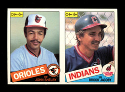 1985 JOHN SHELBY BROOK JACOBY O-PEE-CHEE 2 CARD UNCUT PANEL