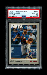2019 PETE ALONSO TOPPS HERITAGE #519 ACTION METS PSA 10