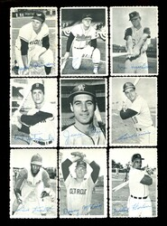 1969 TOPPS BASEBALL DECKLE EDGE COMPLETE 35 CARD SET *010