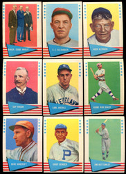 1961 FLEER BASEBALL COMPLETE MASTER SET 154/154