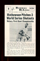 1960 CVC NU BASEBALL HI-LITES #8 MATHEWSON PITCHES 3 SHUTOUTS *105