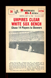 1960 NU BASEBALL HI-LITES #36 UMPIRES CLEAR WHITE SOX BENCH *154