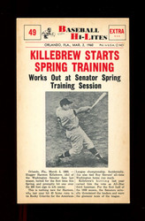 1960 NU BASEBALL HI-LITES #49  KILLEBREW STARTS SPRING TRAINING *167