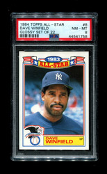 1984 DAVE WINFIELD TOPPS ALL STAR #8 GLOSSY SET OF 22 PSA 8