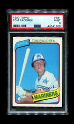 1980 TOM PACIOREK TOPPS #481 MARINERS PSA 9