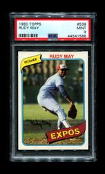 1980 RUDY MAY TOPPS #539 EXPOS PSA 9