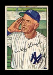 1952 CASEY STENGEL BOWMAN #217 YANKEES *1443