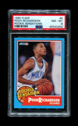 1990 POOH RICHARDSON FLEER #6 ROOKIE SENSATIONS PSA 8