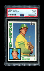 1984 BILL KRUEGER TOPPS #178 ATHLETICS PSA 9