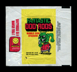 1973 FANTASTIC ODD RODS DONRUSS WRAPPER