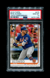 2019 PETE ALONSO TOPPS #475 150TH ANNIVERSARY METS PSA 10