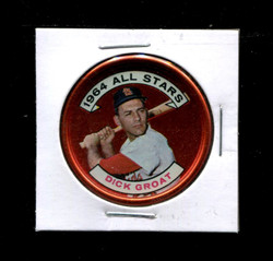 1964 DICK GROAT TOPPS COINS #147 CARDINALS *4738