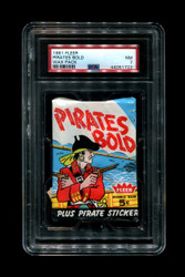 1961 PIRATES BOLD FLEER WAX PACK PSA 7