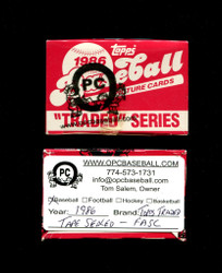 1986 TOPPS TRADED BASEBALL FACTORY SET - TAPE SEALED - FASC