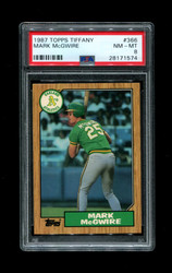 1987 MARK MCGWIRE TOPPS TIFFANY #366 ATHLETICS PSA 8