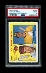 1985 FATHER SON TOPPS #135 BOB KENNEDY TERRY KENNEDY PSA 9