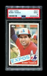 1985 BOBBY RAMOS TOPPS #407 EXPOS PSA 9