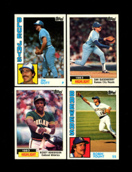 1984 TOPPS TIFFANY BASEBALL 1-199 U-PICK COMPLETE YOUR SET