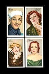 1935 CHAMPIONS OF SCREEN AND STAGE GALLAHER COMPLETE SET 48/48