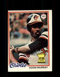 1978 EDDIE MURRAY TOPPS #36 ORIOLES *4523