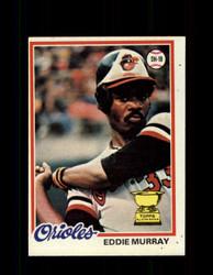 1978 EDDIE MURRAY TOPPS #36 ORIOLES *8062