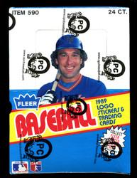 1989 FLEER BASEBALL RACK BOX - FROM A SEALED CASE