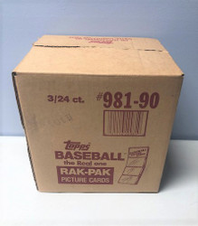 1990 TOPPS BASEBALL 3 BOX RACK CASE FACTORY SEALED